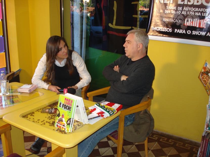 Nei conheceu a simpatia e profissionalismo da imprensa local