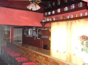 A dama não se deixa fotografar, mas eis a casa em imagens inéditas: aspecto do bar...